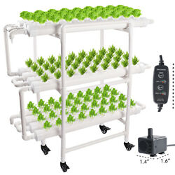 Hydroponic Grow Kit 108 Sites 12 Pipes Hydroponic Growing System W/pump Timer
