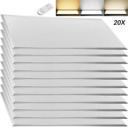 20pcs 2x4ft Led Panel Light Drop Ceiling Flat Dimmable Recessed Troffer Fixture