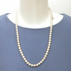 Mikimoto K14yg About 7 To 7.4mm 77p Akoya Pearl Necklace Auth Used From Japan
