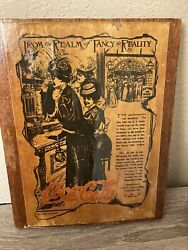 Antique Coca Cola 1907 Advertising Poster Mounted On Board