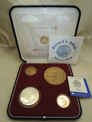 1998 Israel Jubilee 50th Anniversary 4 State Medals 15g Gold 60g Silver 2 Bronze