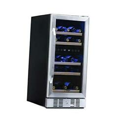 Slim Dual Zone Built-in Wine/ Beverage Cooler And Stainless 29 Bottle