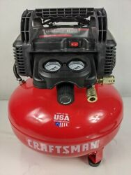 Craftsman Air Compressor, 6 Gallon, Pancake, Oil-free With Accessory Kit