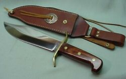 Western Bowie W49 Fixed Blade Knife With Leather Sheath