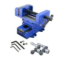 R Compound Cross Slide Industrial Strength Benchtop And Drill Press Vise 4in