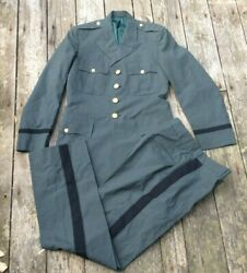 Us Army Early 1960and039s Vietnam Era Officers Dress Greens Class A Uniform