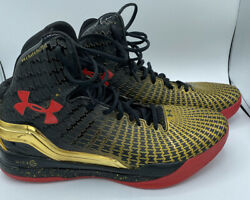 Under Armour Micro G Clutchfit Drive Black Red Metallic Gold Size 11.5 $120.00