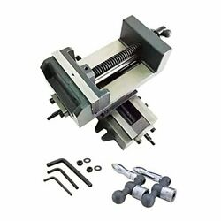4 Compound Cross Slide Industrial Strength Benchtop And Drill Press Vise