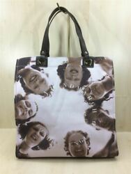 Secondhand ANYA HINDMARCH Girl Printed Canvas Tote Tote Bag Canvas Pink Total $159.99