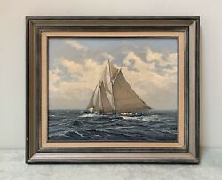 """Rare Vintage 1980 """"wind Like Whetted Knife"""" Oil Painting By Ben Neill A.s.m.a."""