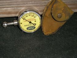 Vintage Us Model A Ford Tire Gauge Antique Pouch Accessory Tool Display Part