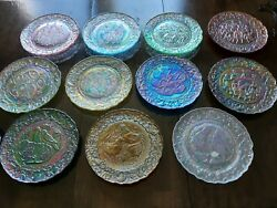 Fenton Carnival Glass 12 Twelve Days Of Christmas Collectible Plates