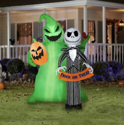Jack Skellington With Oogie Boogie Halloween 6.5 Ft Tall Airblown Inflatable
