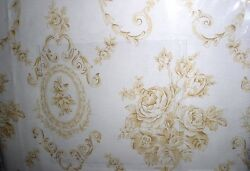 New Linen Source Buttercup Yellow Cameo Rose Toile Sheet Set King 4 Pieces