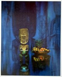 Tiki Print by August Holland. Nice 16quot; x 20quot; reproduction of 1960 Vintage Art