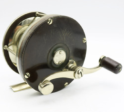 Antique Edward Vom Hofe 4/0 Fishing Reel Early Patent 1862 German Silver