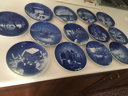 Christmas Plates.7 Royal Copenhagen 6 B And G. All 13 Never Used.