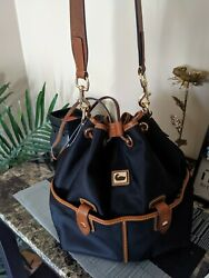 Dooney And Bourke Bucket Bag Nylon with leather detailing $50.00