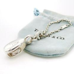 And Co. Pully Sl Silver 925 Bag Charm Keychain W/pouch Vintage Rare