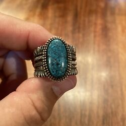 Ron Bedonie Sterling Silver Turquoise 11.75 Ring