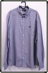 Fred Perry Long Sleeved Men#x27;s Shirt Size 2XL GBP 12.00