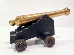 Vintage Signal Cannon Brass And Cast Iron Stamped Made In Usa Nice Look And Read
