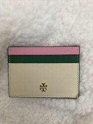 Tory Burch Leather Slim Card Case Wallet $38.00