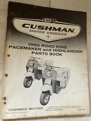 Rare 1960 Cushman Scooter Road King Pacemaker Highlander 57 Page Parts Book