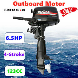6.5hp 4-stroke 123cc Outboard Motor Short Shaft Boat Engine W/ Water-cooling