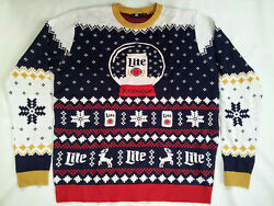 2018 Miller Lite Christmas Sweater In Size Xl