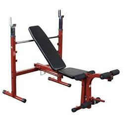 Best Fitness Bfob10 Adjustable Olympic Folding Weight Bench For Home Gym