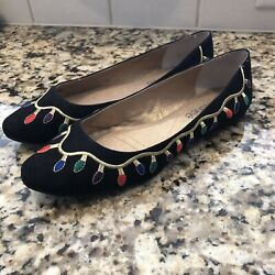 J. RENEE Brightlights Embroidered Christmas Holiday Shoes Women's 7.5M $24.00