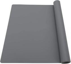 Extra Large Silicone Table Mat, Mat For Crafts Size, Dark Gray