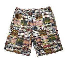 American Eagle Shorts Mens 36 Patch Work All Over Plaid Chino Cotton