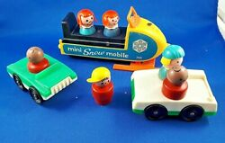 1970 Fisher-price Mini Snowmobile Cars And People