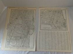 Antique 1915 Street Map Of Chicago, Illinois Each Page 10x15