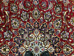 Big Red Vintage Rug 10x13 Oriental Hand-knotted Wool Antique Handmade Handwoven