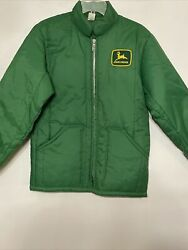 Brand New Vintage John Deere Menand039s Size Small Green Jacket Made In Usa