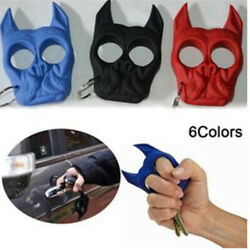 Dog Head Key Chain Self Defence Window Breaker Finger Ring Safety Survival Tool