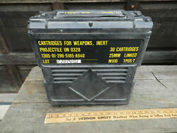 Empty Military Ammo Shell Box 25mm Linked M793 Tp-t 30 Cartridges Case