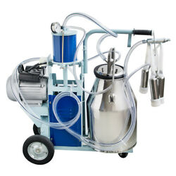 Portable Electric Milking Machine Milker Cows Stainless Steel W/ 25l Bucket New