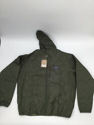 Menand039s Diamond Quilted Bomber Hoody 27610 Sz Xxl Nwt Rip/tear See Pic