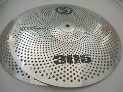 14 Hihats Low Volume Quiet Silent Cymbal Silver Finish Fast Free Shipping New