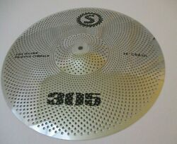 18 Crash Low Volume Tone Quiet Cymbal Silver Finish Fast Free Shipping New E