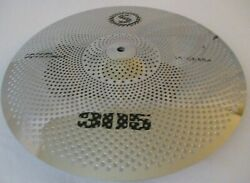 16 Crash Low Volume Cymbal Tone Quiet Silver Finish Fast Free Shipping E