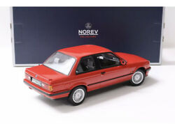 New 1/18 Norev 1988 Bmw E30 325i Coupe Saloon Red M3