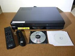 Sony Rdr-vx525 Dvd Recorder And Vcr Combo Full Hd W/ Remote Discs And Hdmi Cable