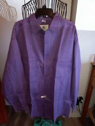 2the Territory Ahead Large 100 Cotton Long Sleeve Shirt Purple And Brown