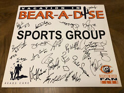 Gale Sayers Signed Auto Bear-a-dise Fan Club Chicago Bears 18x20 Foam Poster