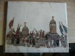 A Pair Of Antique Mid 19th Century India Indian Paintings On Mica